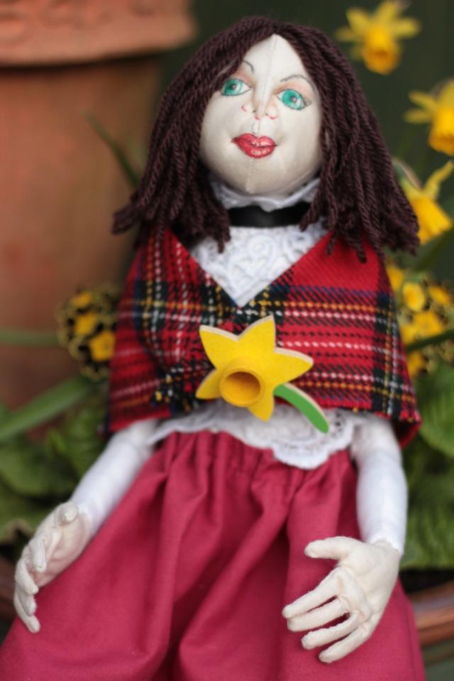 OOAK cloth doll, Gwyneth