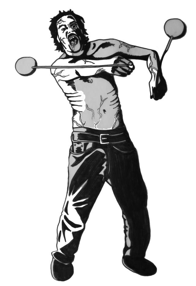 Poi Zombie (Drawn)